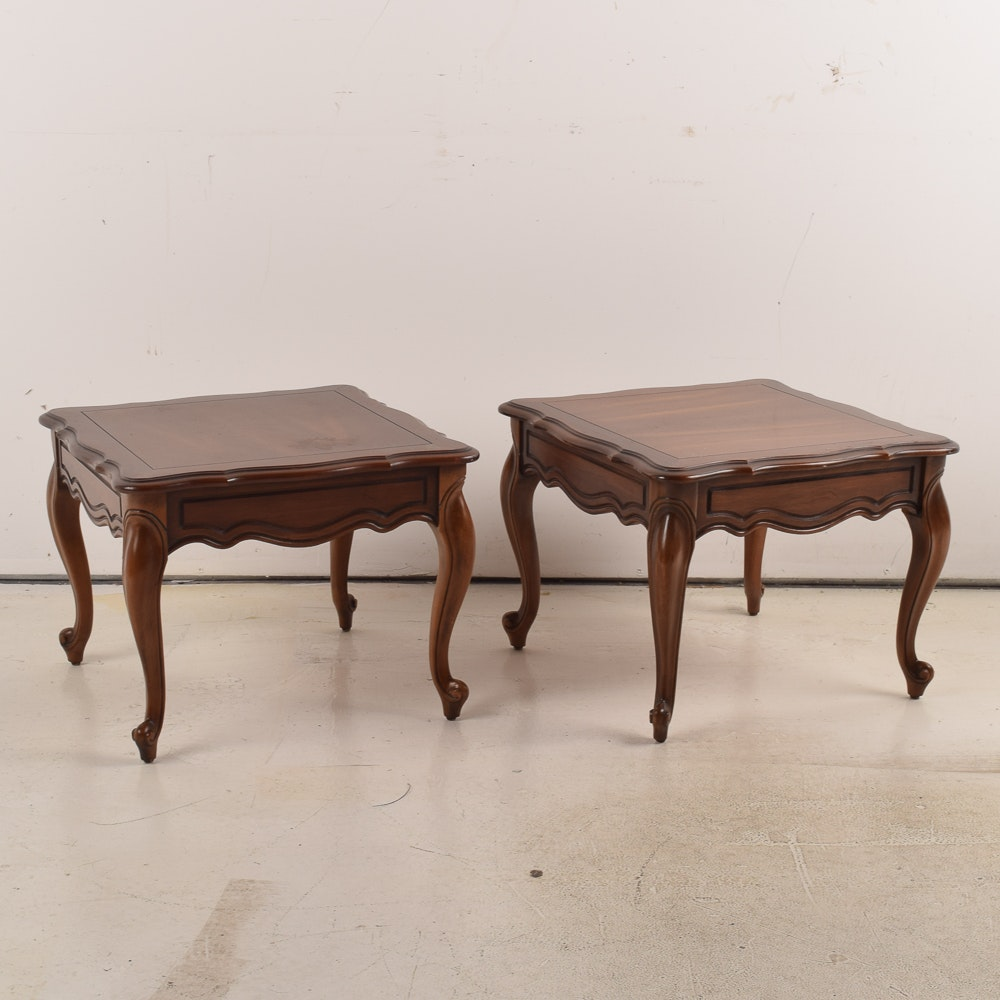 Pair of Queen Anne Cherry Side Tables