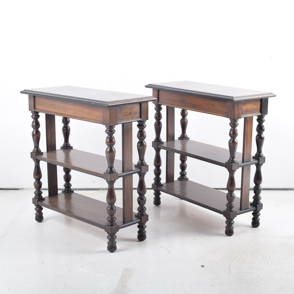 Pair of Three-Tiered Side Tables