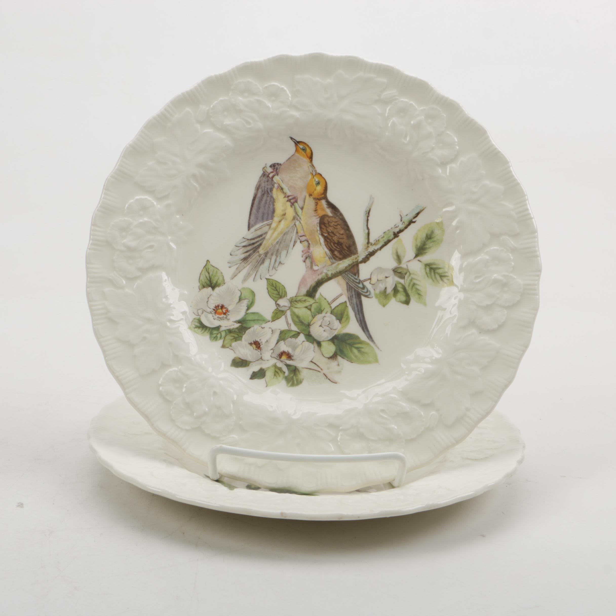 """Audubon's Birds of America"" Plates by Alfred Meekin China"