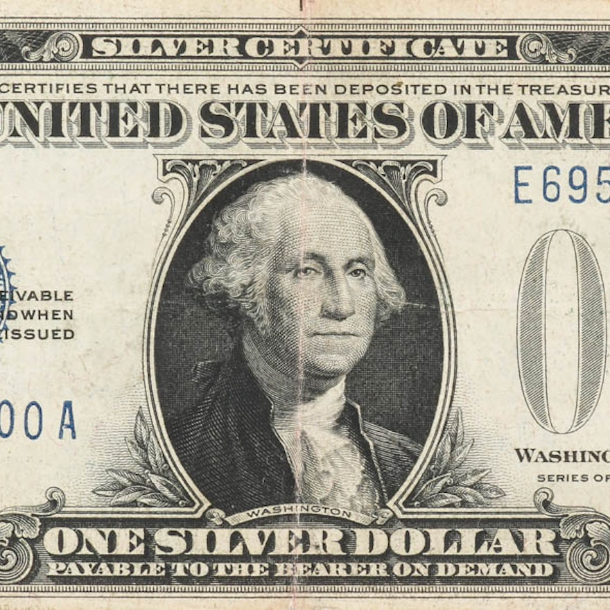 Series Of 1928 Funny Back One Dollar Silver Certificate Ebth