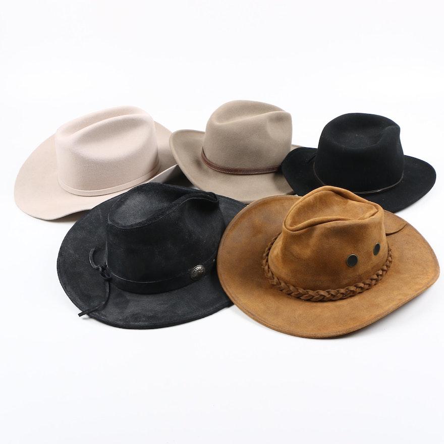 f22483a35f5 Cowboy and Safari Hats Including Henschel Hat Co.   EBTH