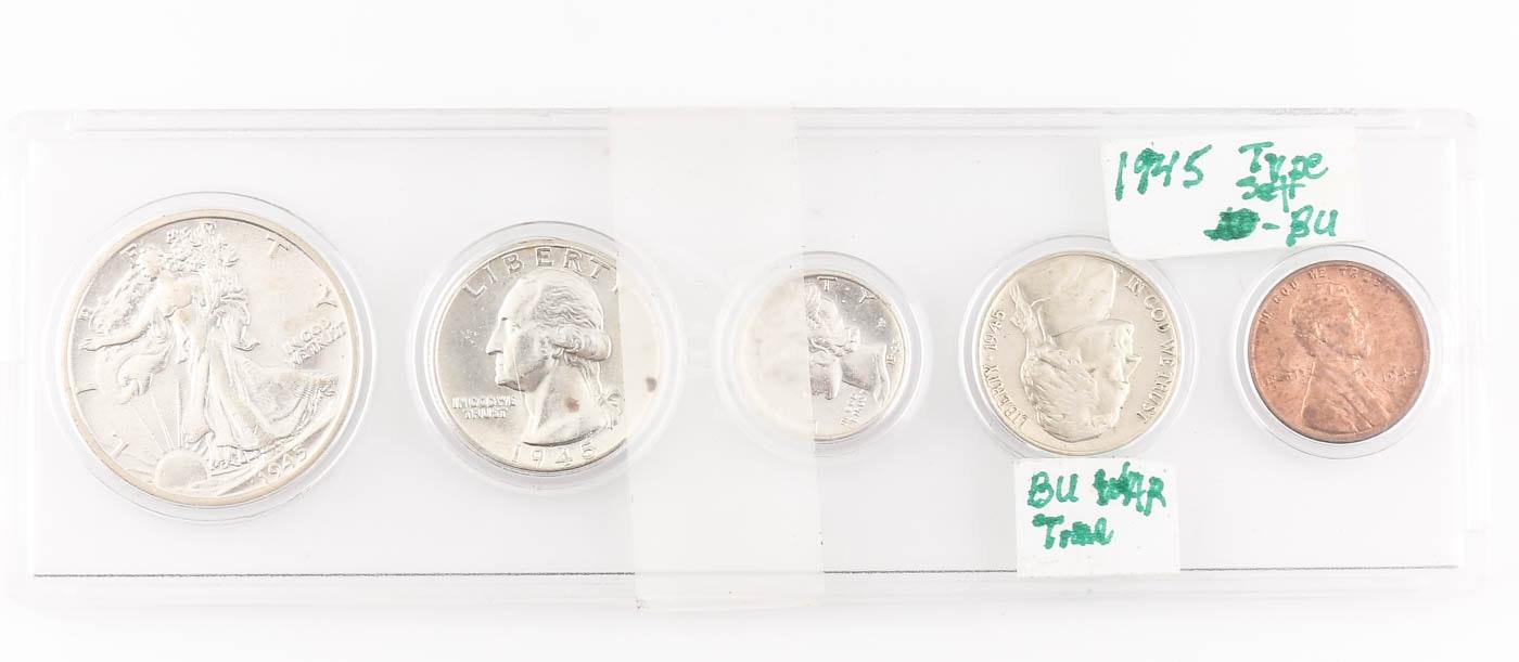 1945 U.S. Type Coin Set