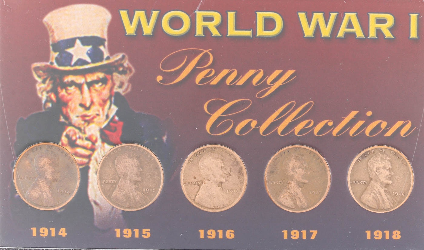 World War I Lincoln Wheat Cents Collection