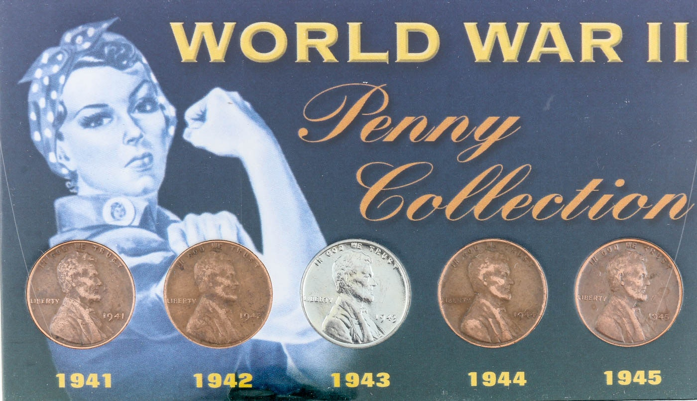 World War II Lincoln Wheat Cents Collection