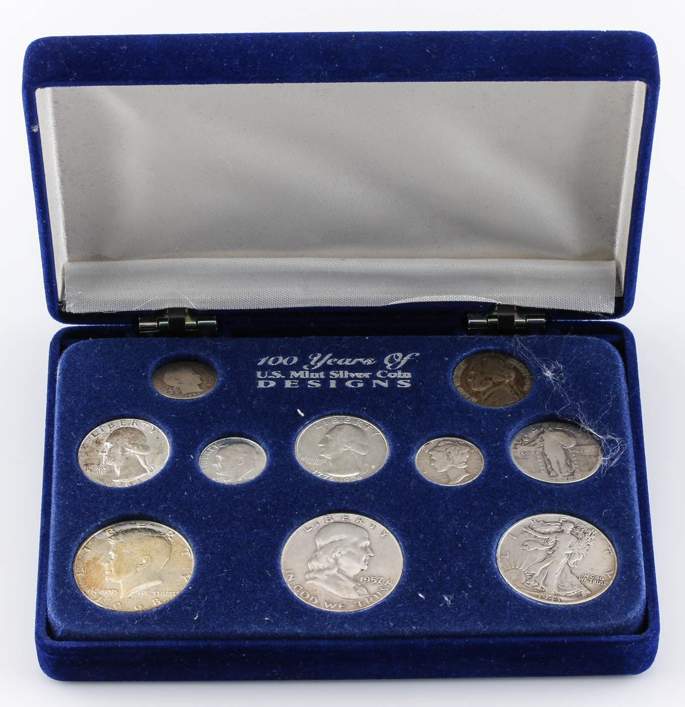 """""""100 Years of U.S. Mint Silver Coin Designs"""" Coin Set"""