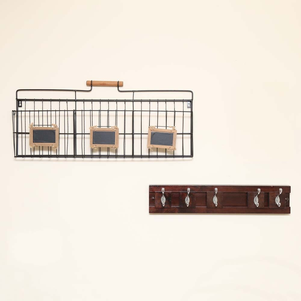 Coat Rack and Wall Baskets