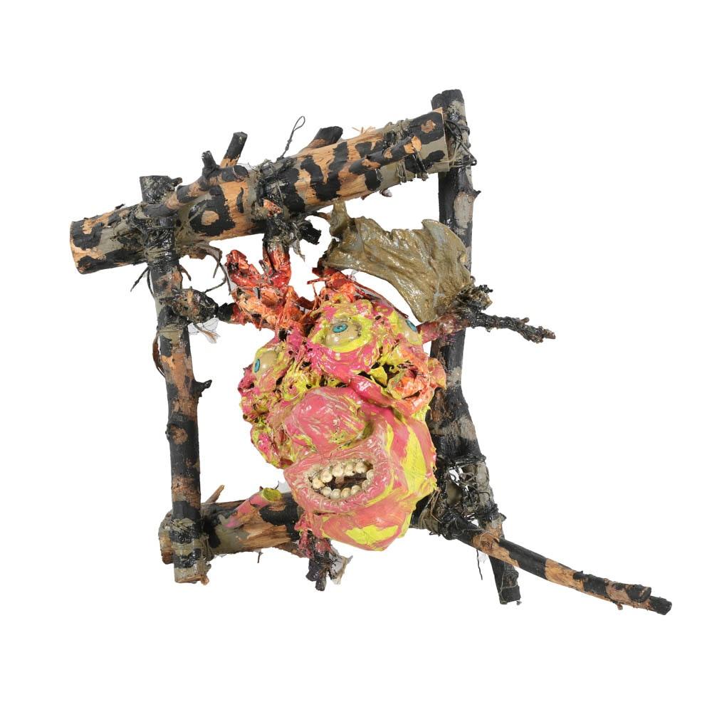 "Frank Kowing Mixed Media Sculpture ""Cadavre Exquis Distopia IV.."""