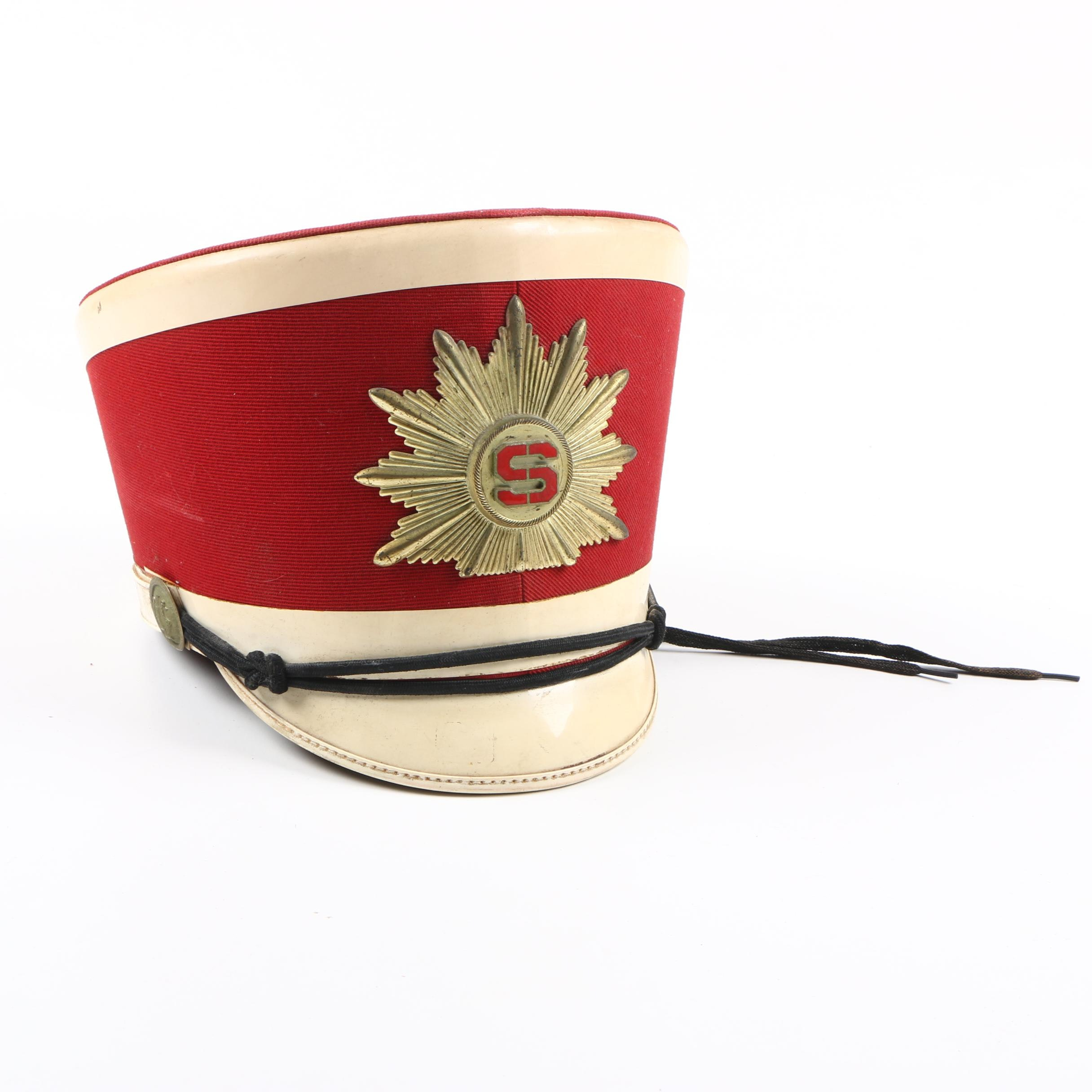 Vintage Marching Band Shako Hat
