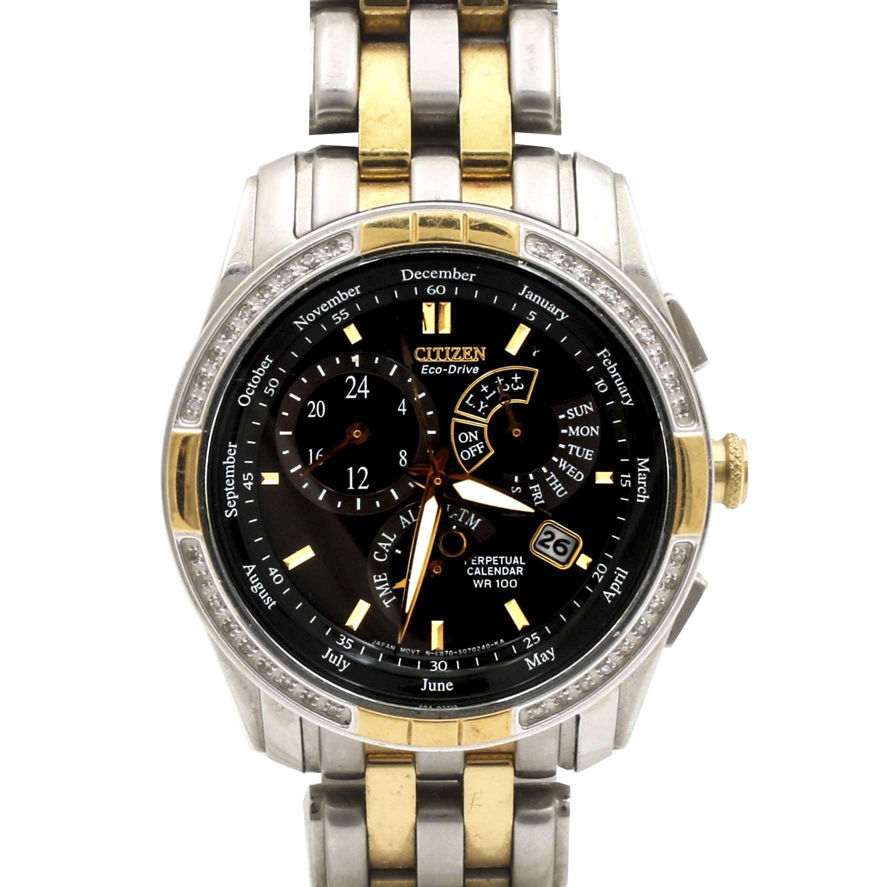 Citizen Eco-Drive Perpetual Calendar Diamond Wristwatch