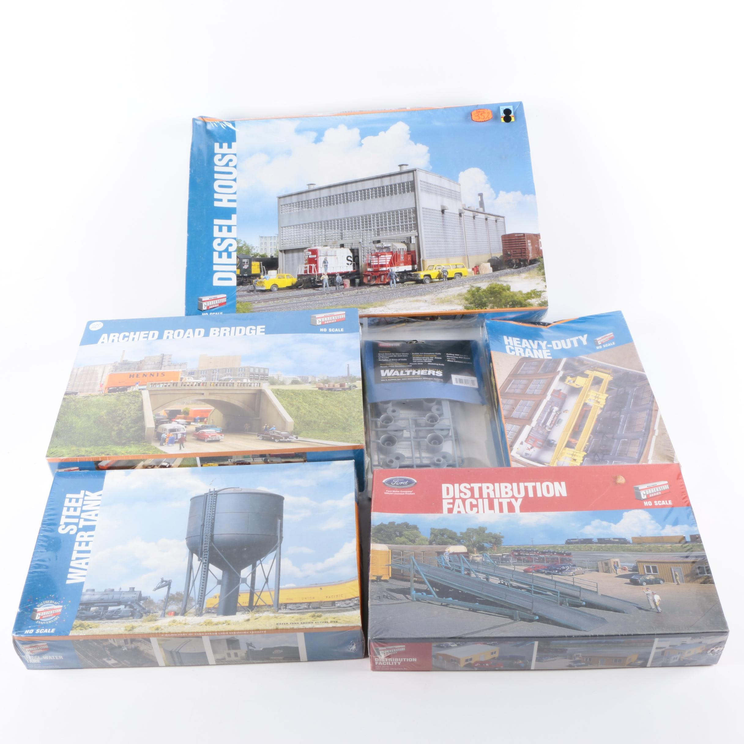 Collection of Walthers Model Railroad Landscape Buildings