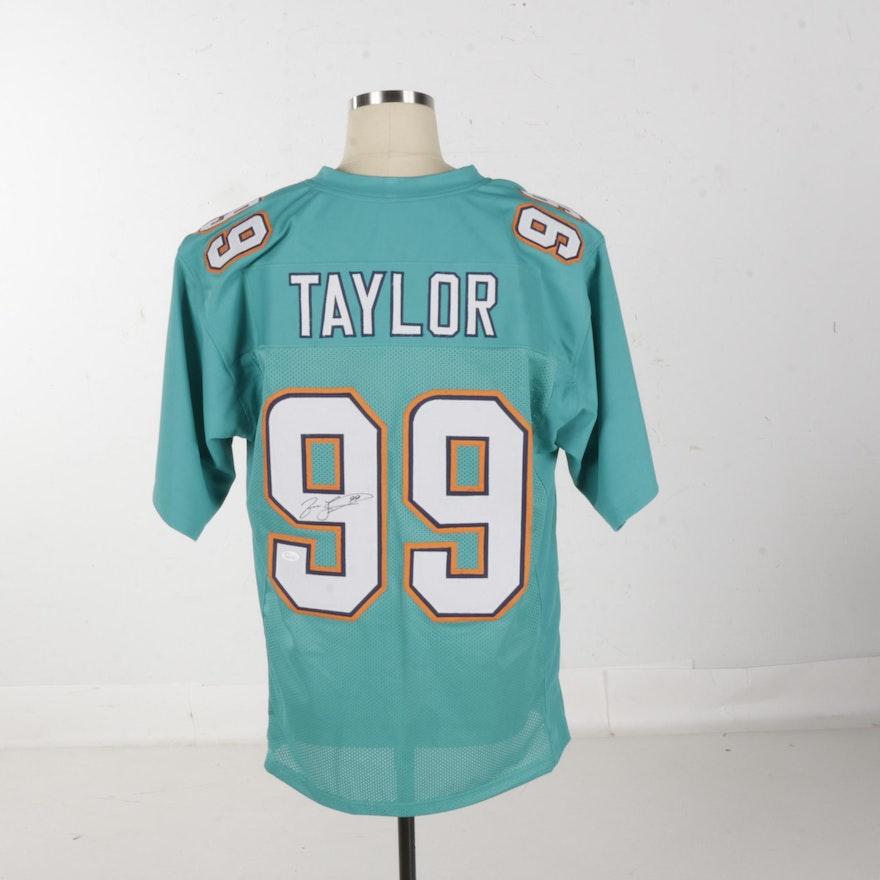 5e0463fa9 Autographed Jason Taylor Miami Dolphins Jersey - JSA COA   EBTH
