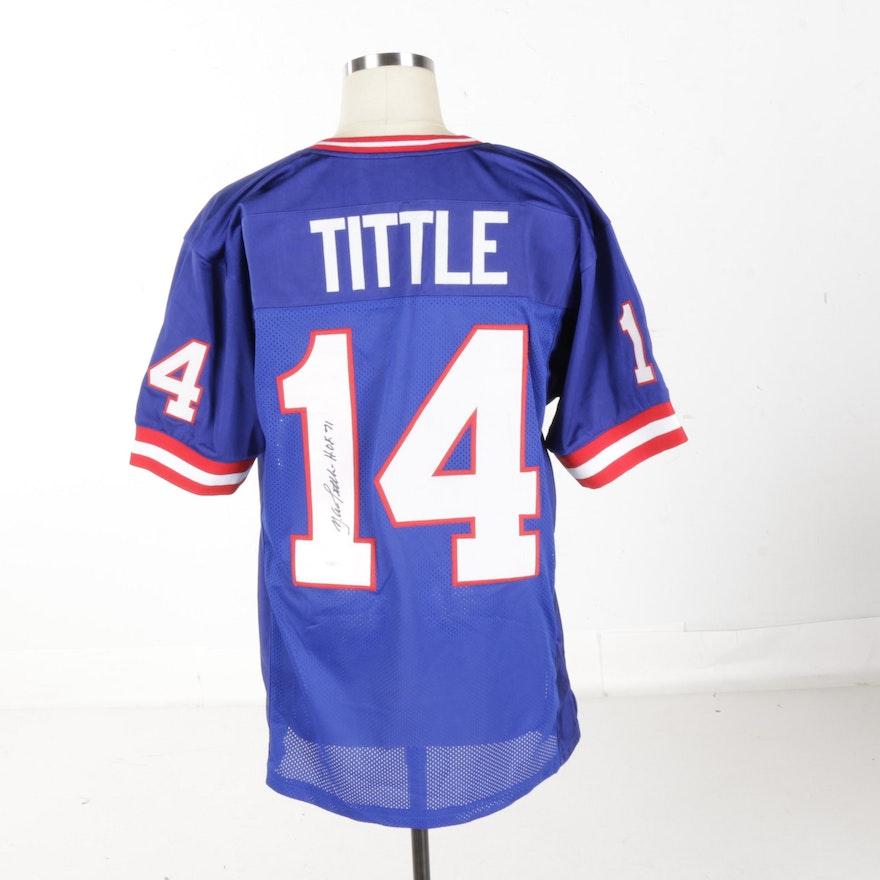 635b0a169 Autographed Y.A. Tittle New York Giants Jersey - JSA COA   EBTH