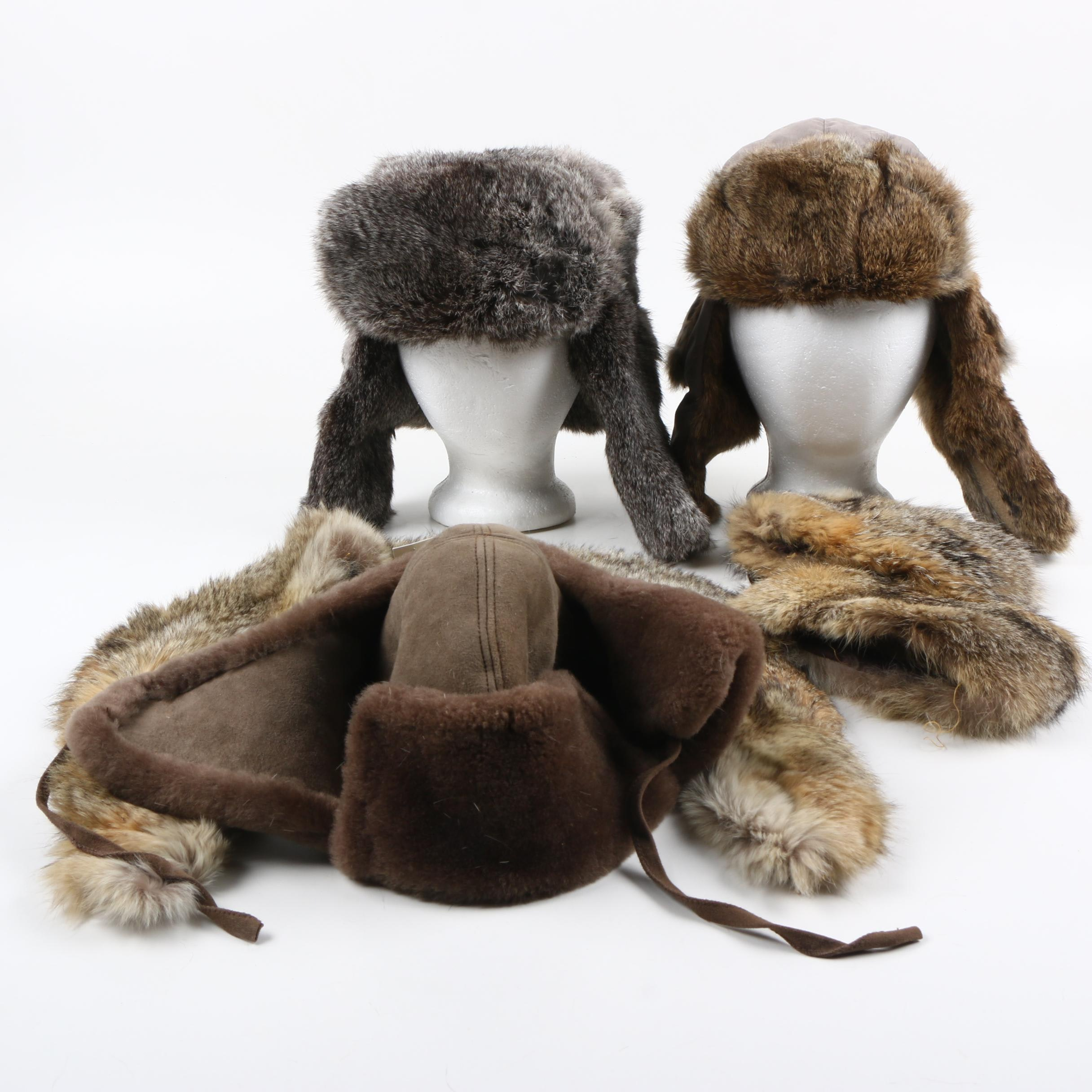 Fur Ushankas and Accessories Including UGG