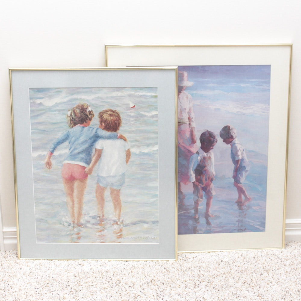 Framed Offset Lithographs Featuring Ivan Anderson