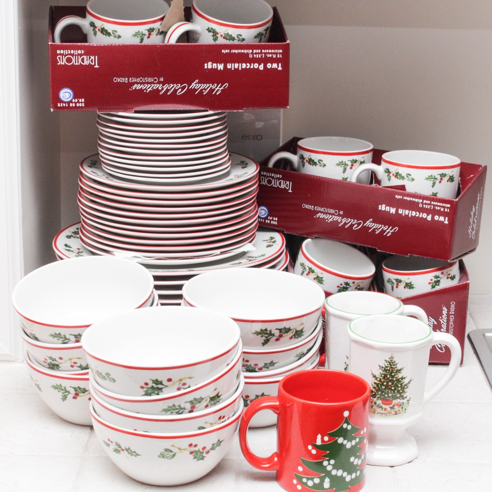 Christopher Radko Traditions Holiday Celebration Tableware Collection
