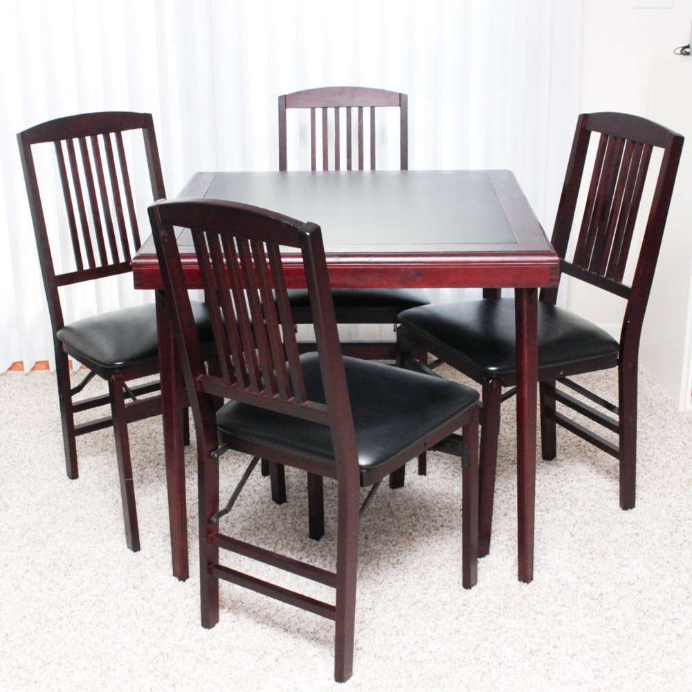 Cosco Wooden Card Table And Chairs ...