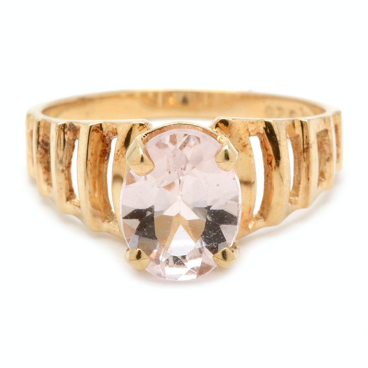 10K Yellow Gold Morganite Ring