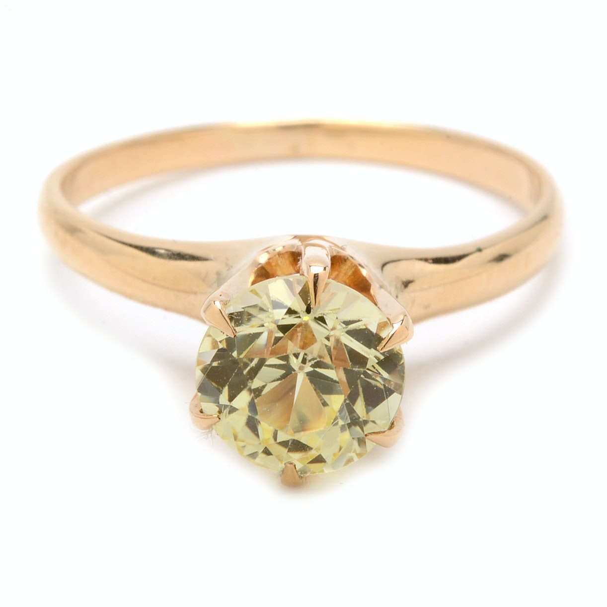 10K Yellow Gold Yellow Sapphire Ring