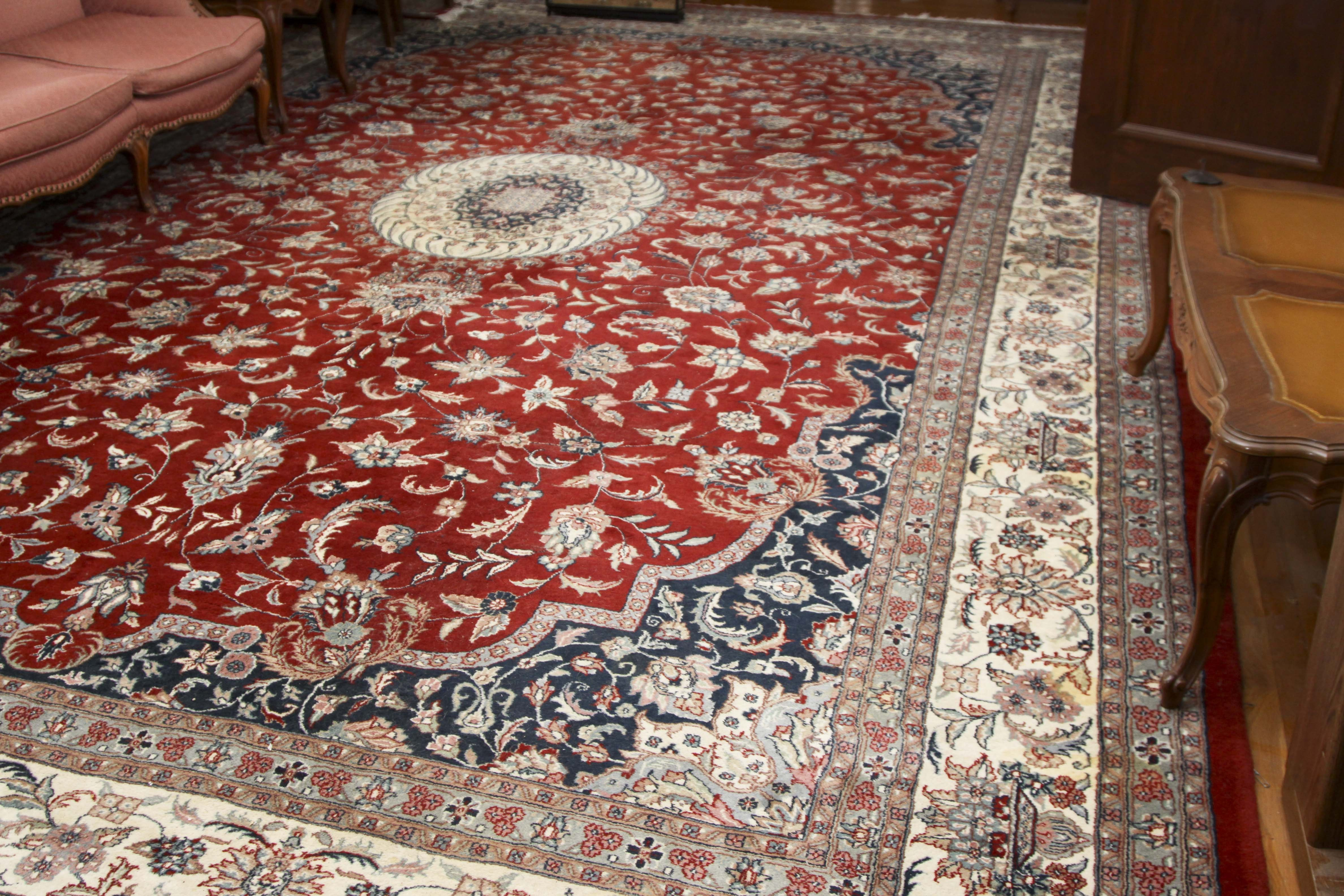 Hand-Knotted Sino-Persian Tabriz Area Rug