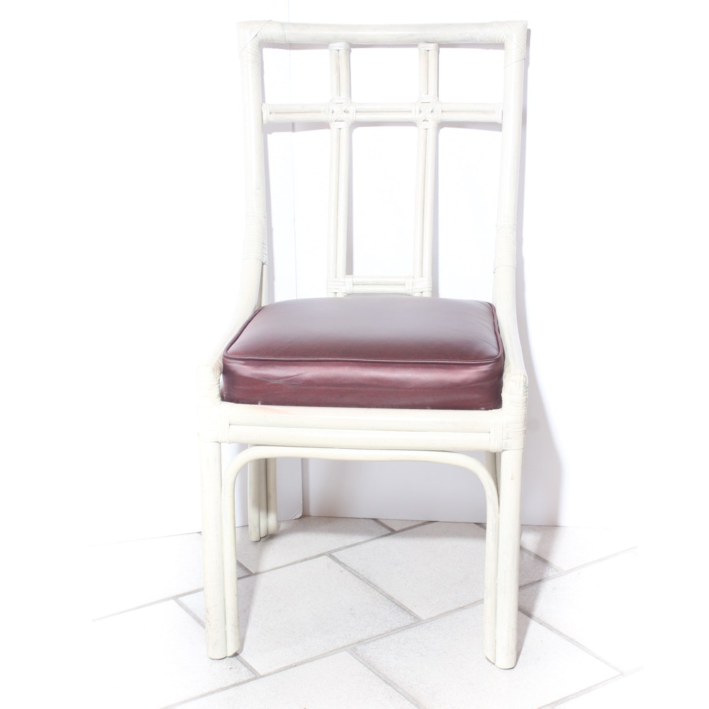 Whitewashed Wooden Accent Chair