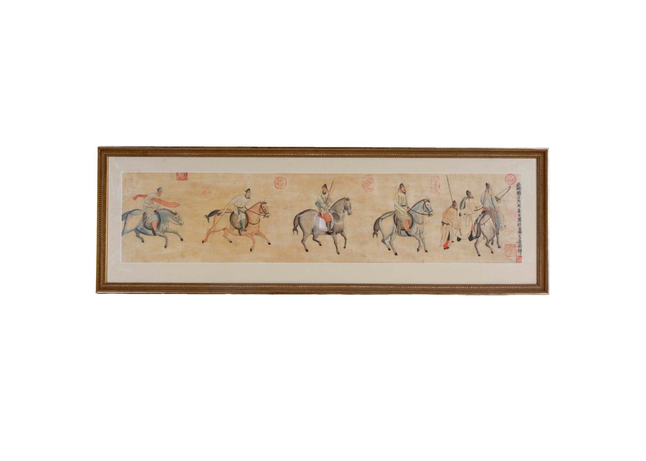 Framed Asian Themed Watercolor