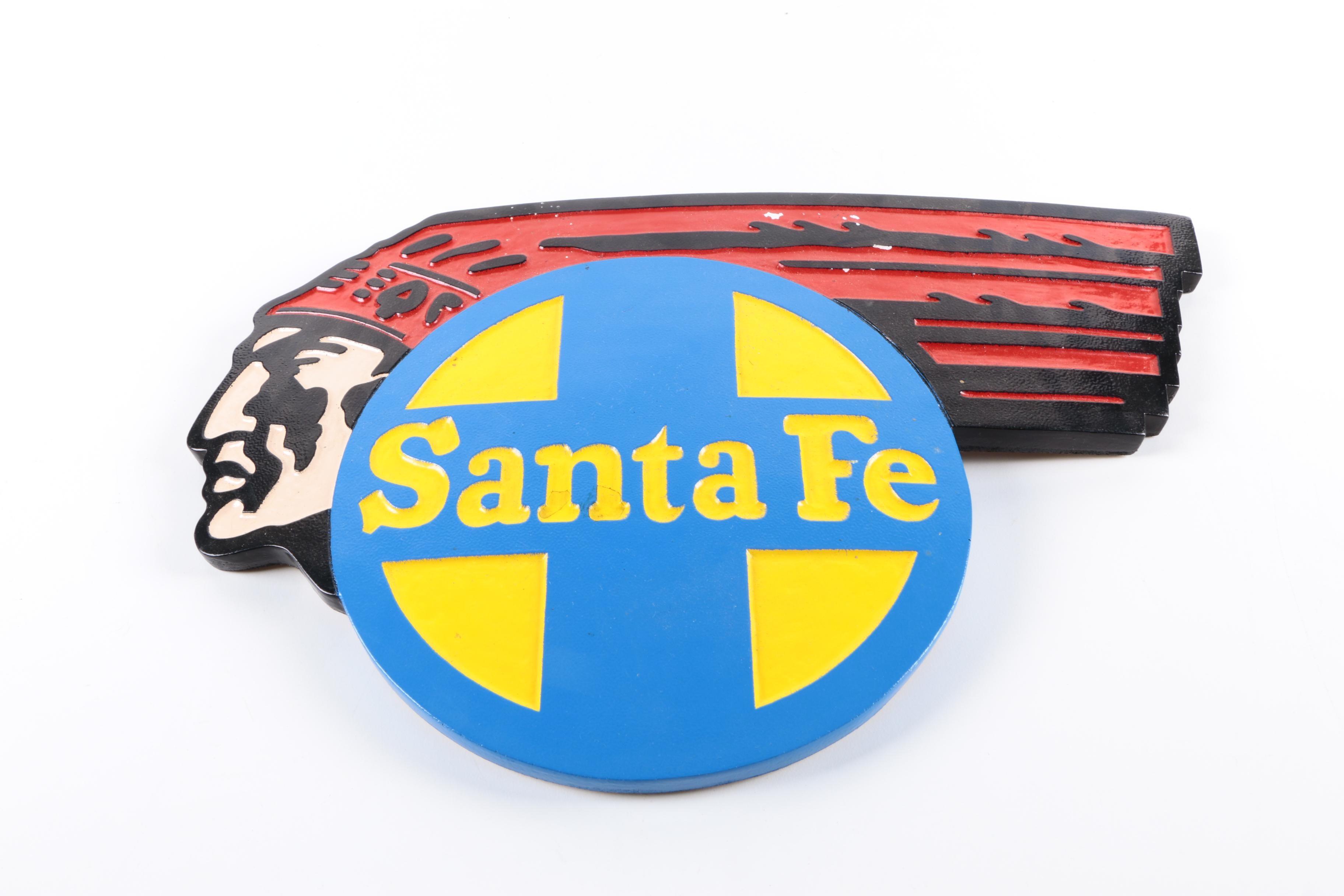 Reproduction Santa Fe Railway Plaque
