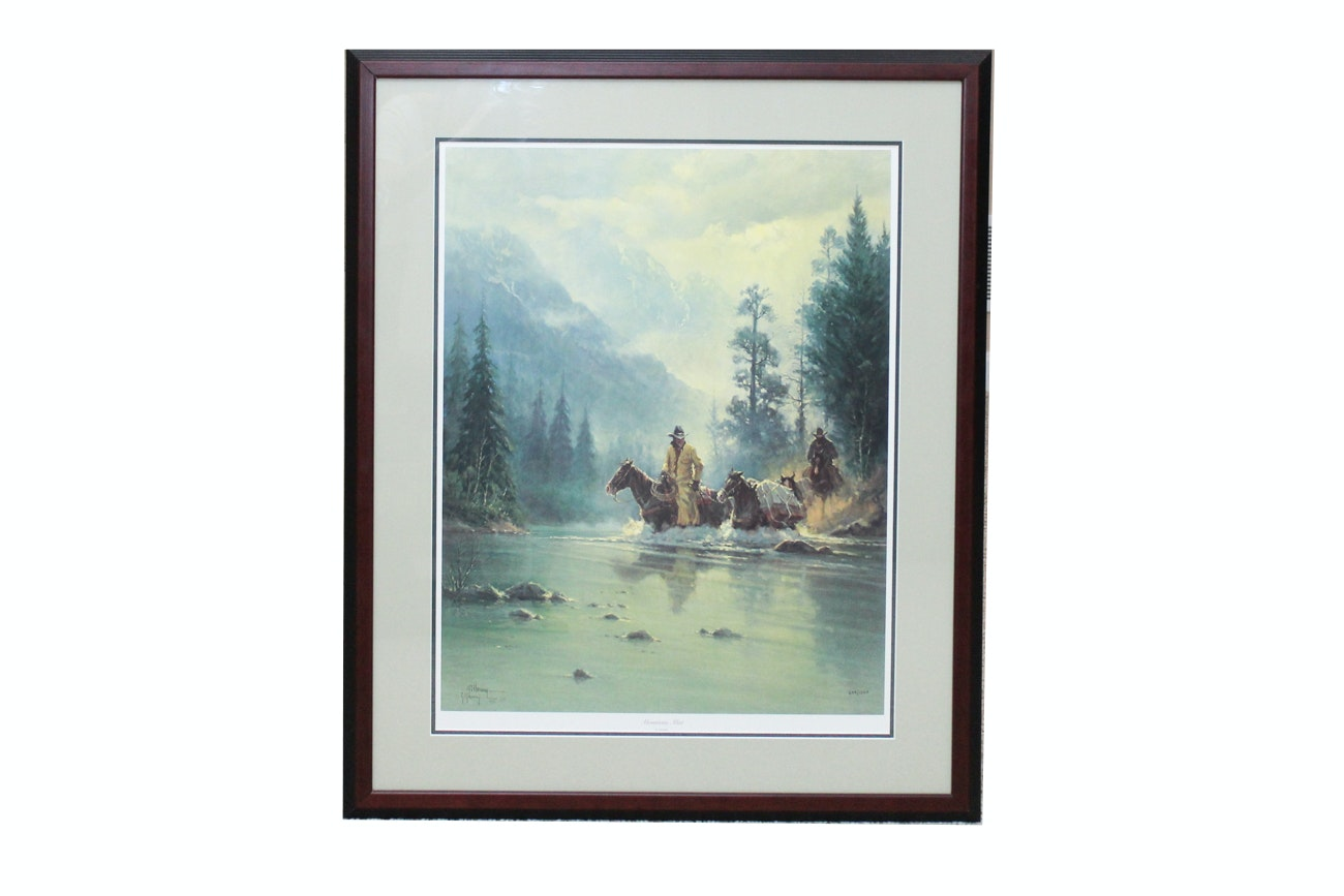 """Limited Edition """"Mountain Mist"""" G. Harvey Offset Lithograph"""