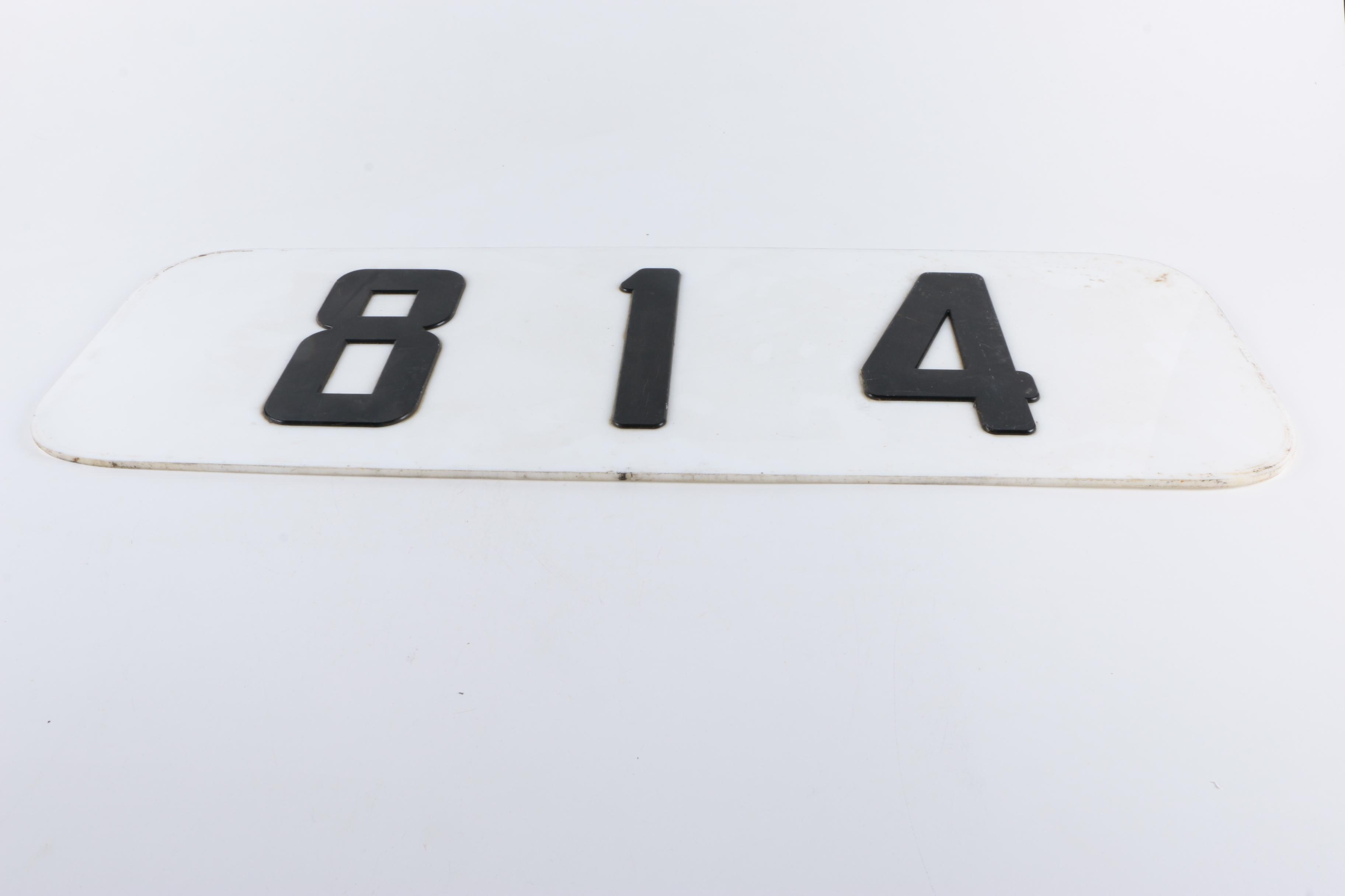 "Locomotive Number Plate ""814"""