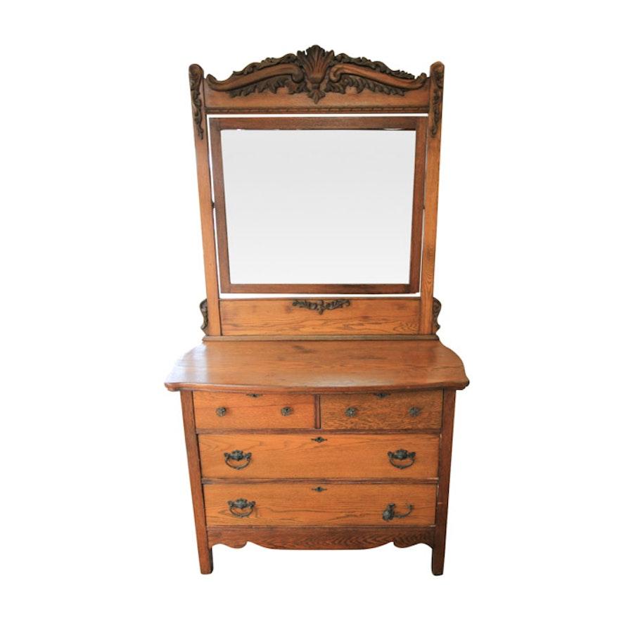 Victorian Oak Dresser With Mirror ~ BestDressers 2019