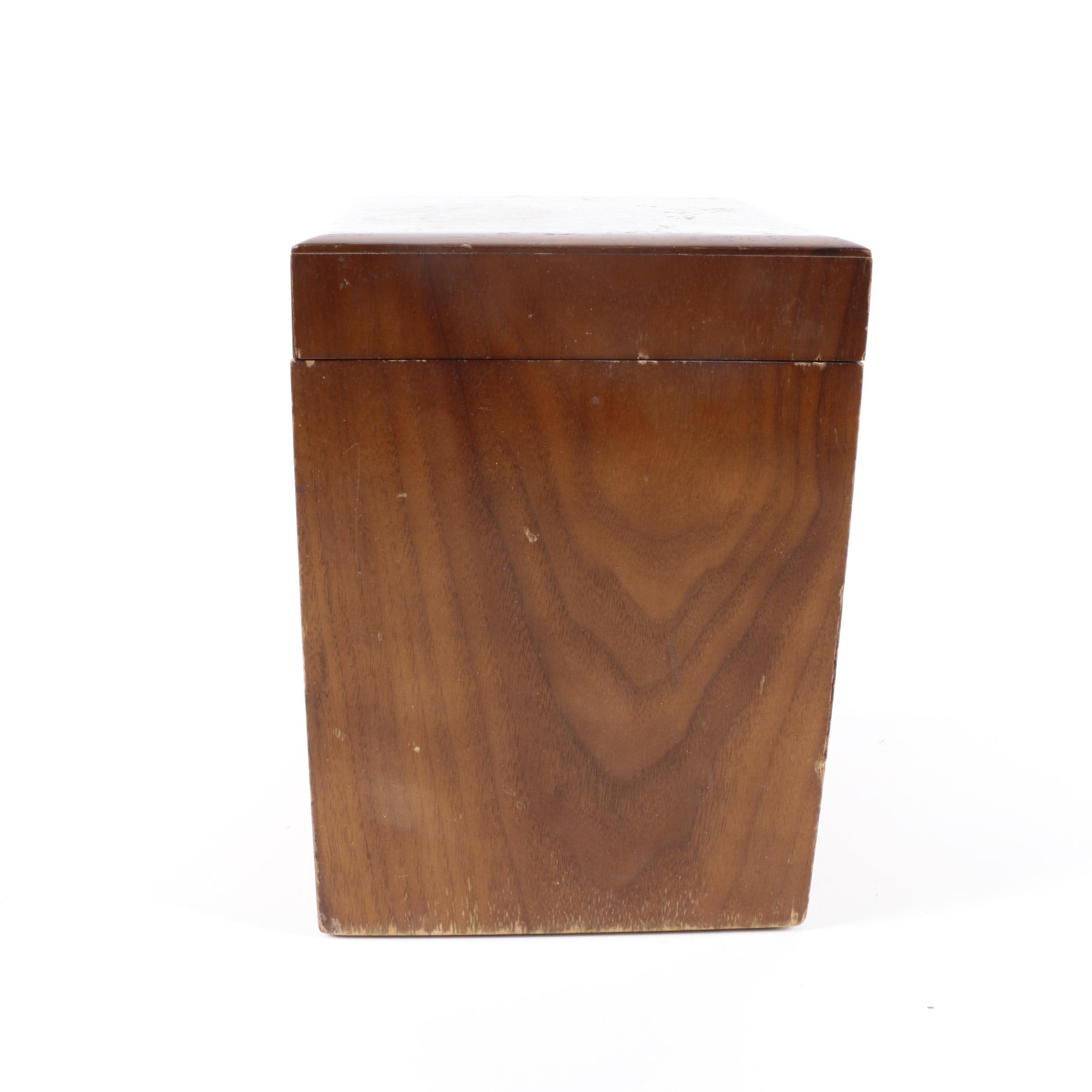 Walnut Tone Wooden Humidor