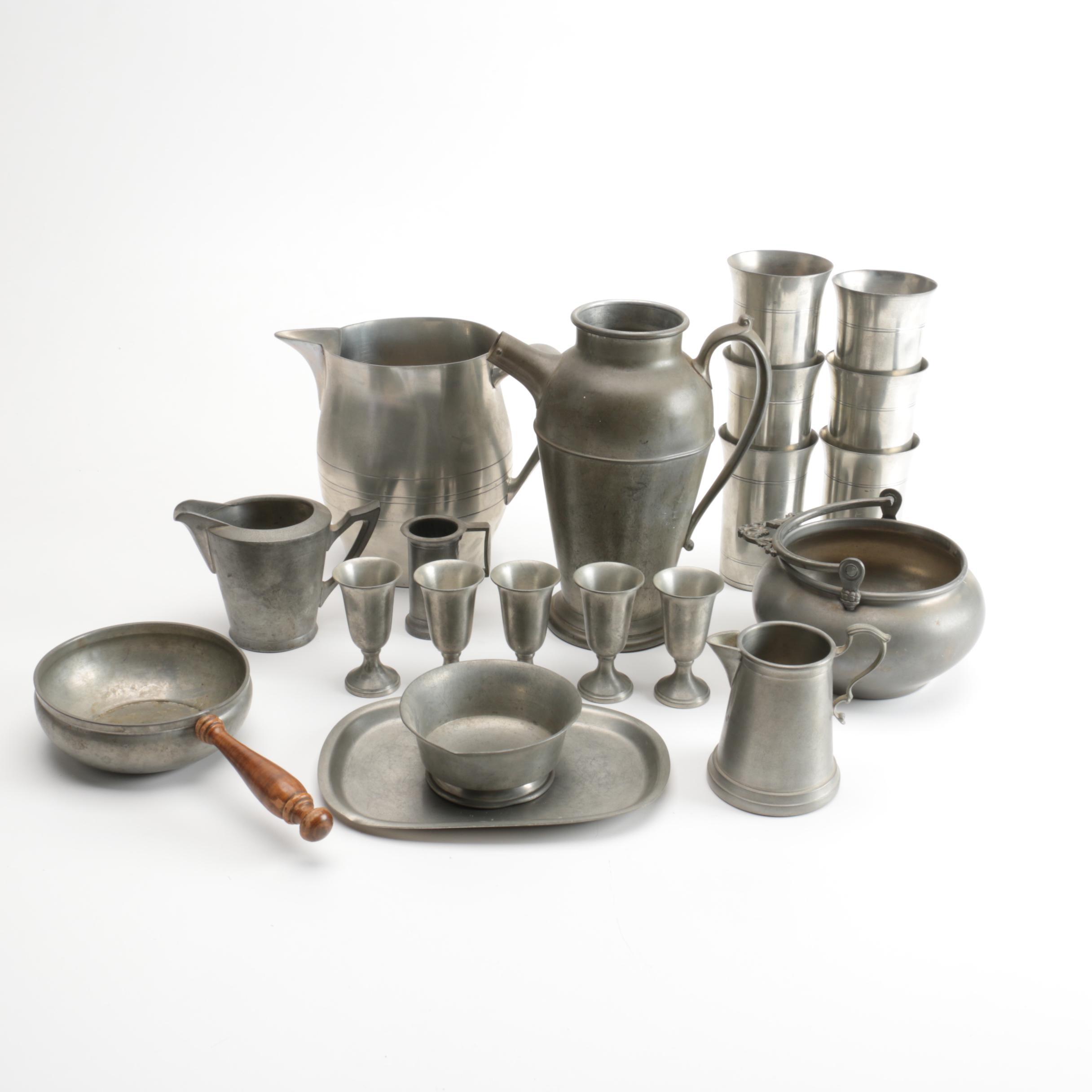 Vintage Bristol, International Silver Co. and Italian Pewter Tableware