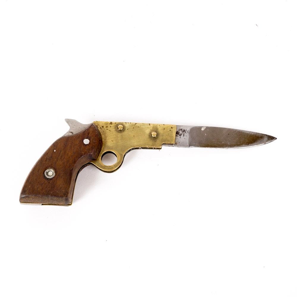 Vintage Gun Shaped Pocket Knife Ebth