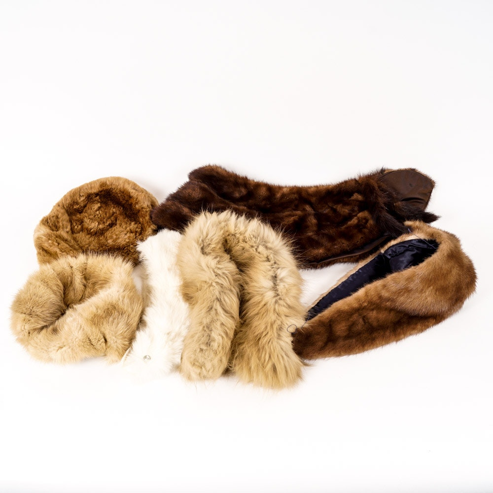 Fox, Rabbit and Mink Fur Collars and Hats