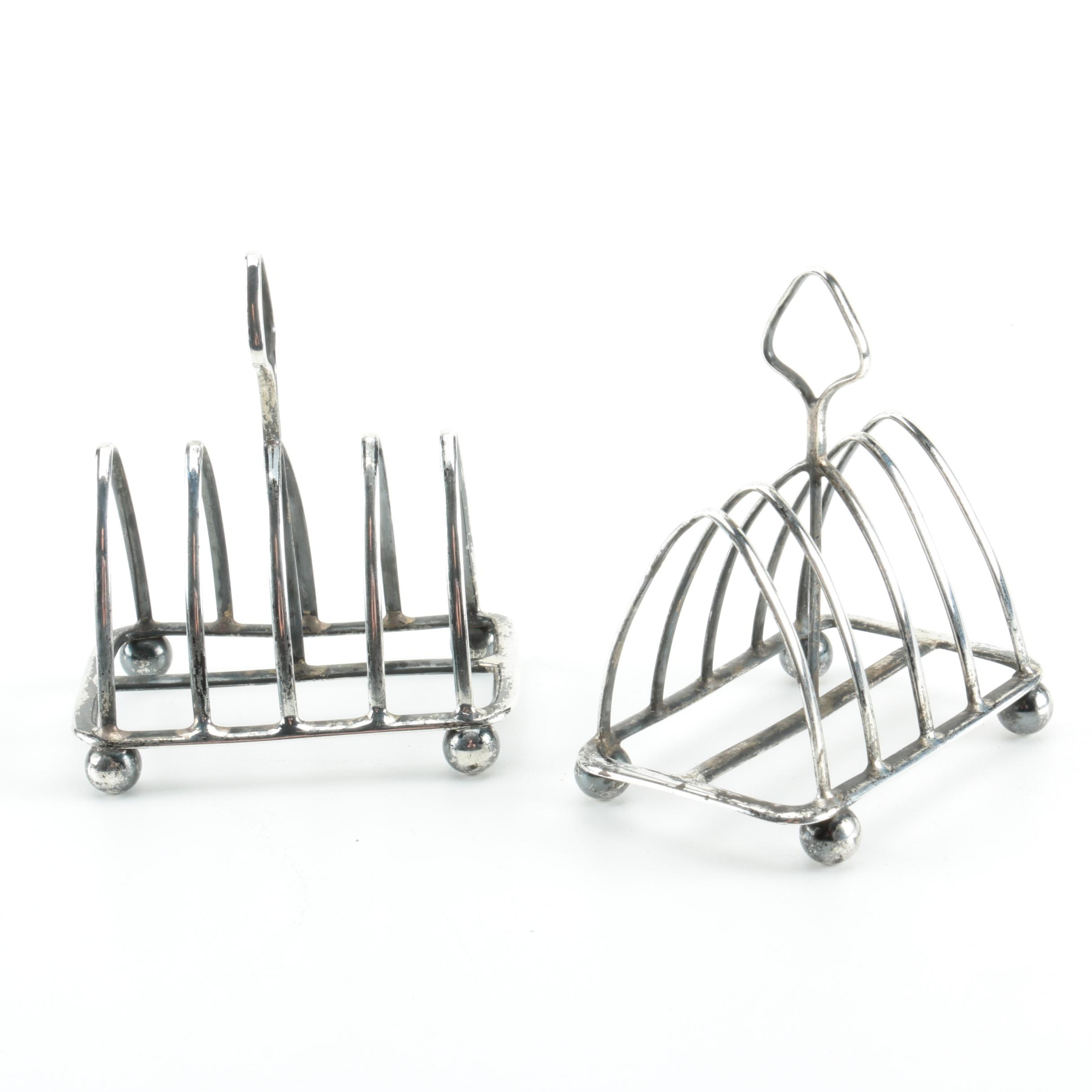 Pair of 1928 Goldsmiths & Silversmiths Co. Ltd. Sterling Silver Toast Racks
