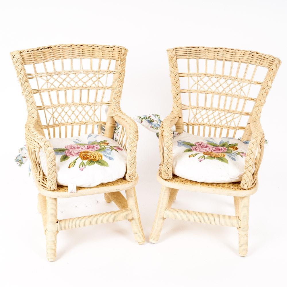 "American Girl ""Samantha"" Wicker Doll Chairs"