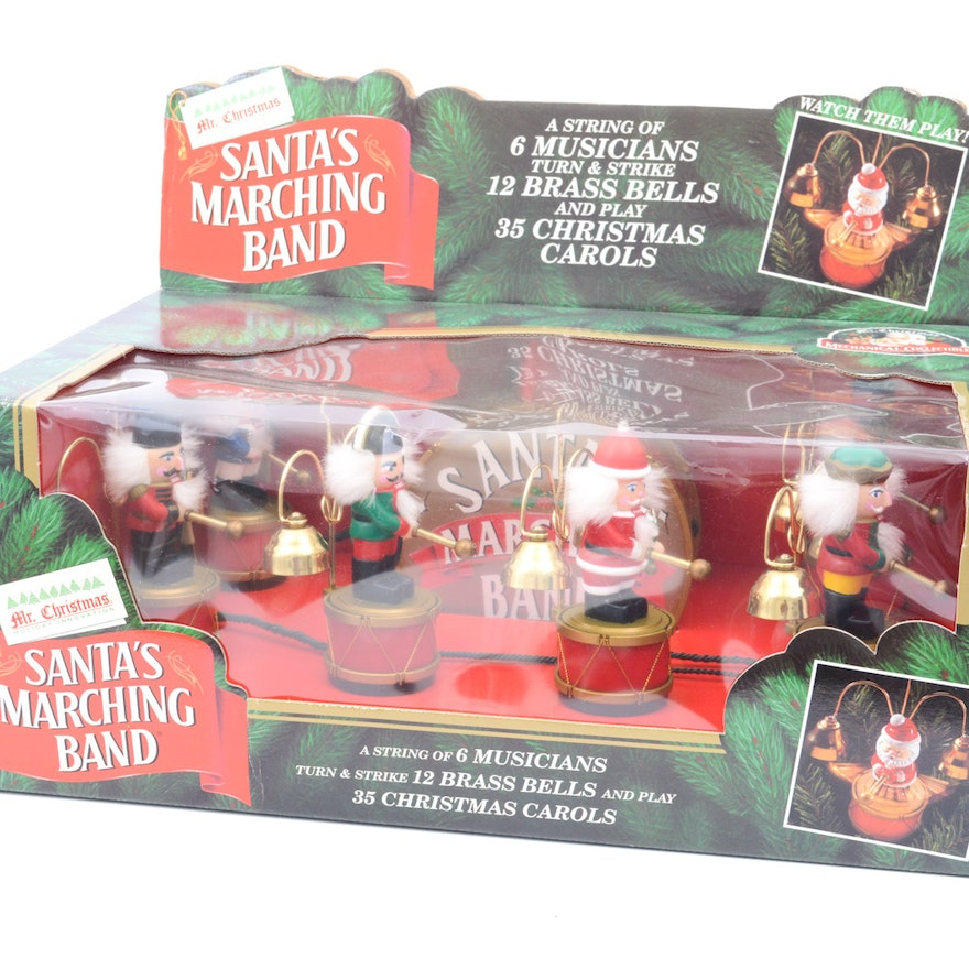 mr christmas animated santas marching band