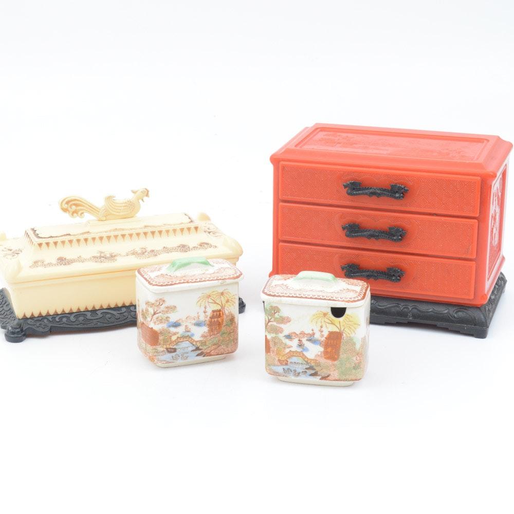 Vintage Asian Decorative Boxes