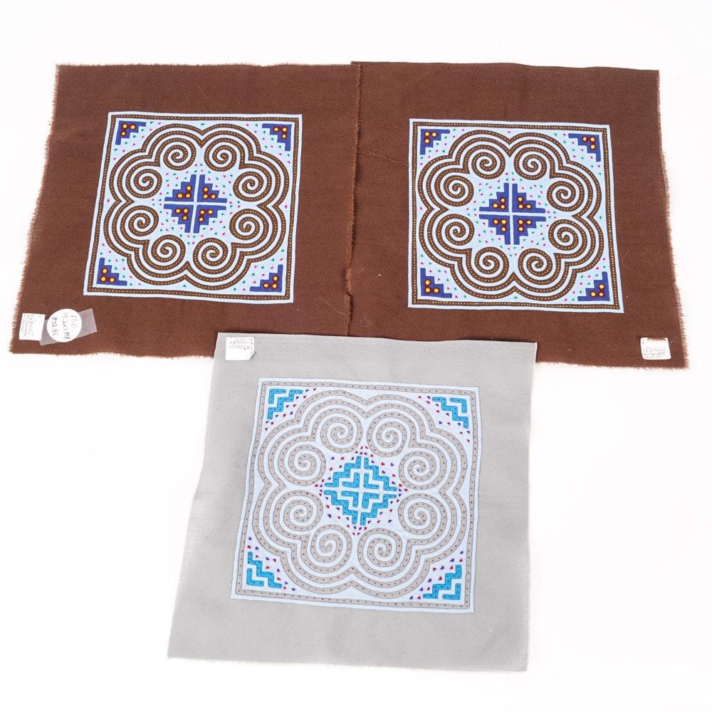 "Hmong ""Paj Ntaub"" Textile Panels"