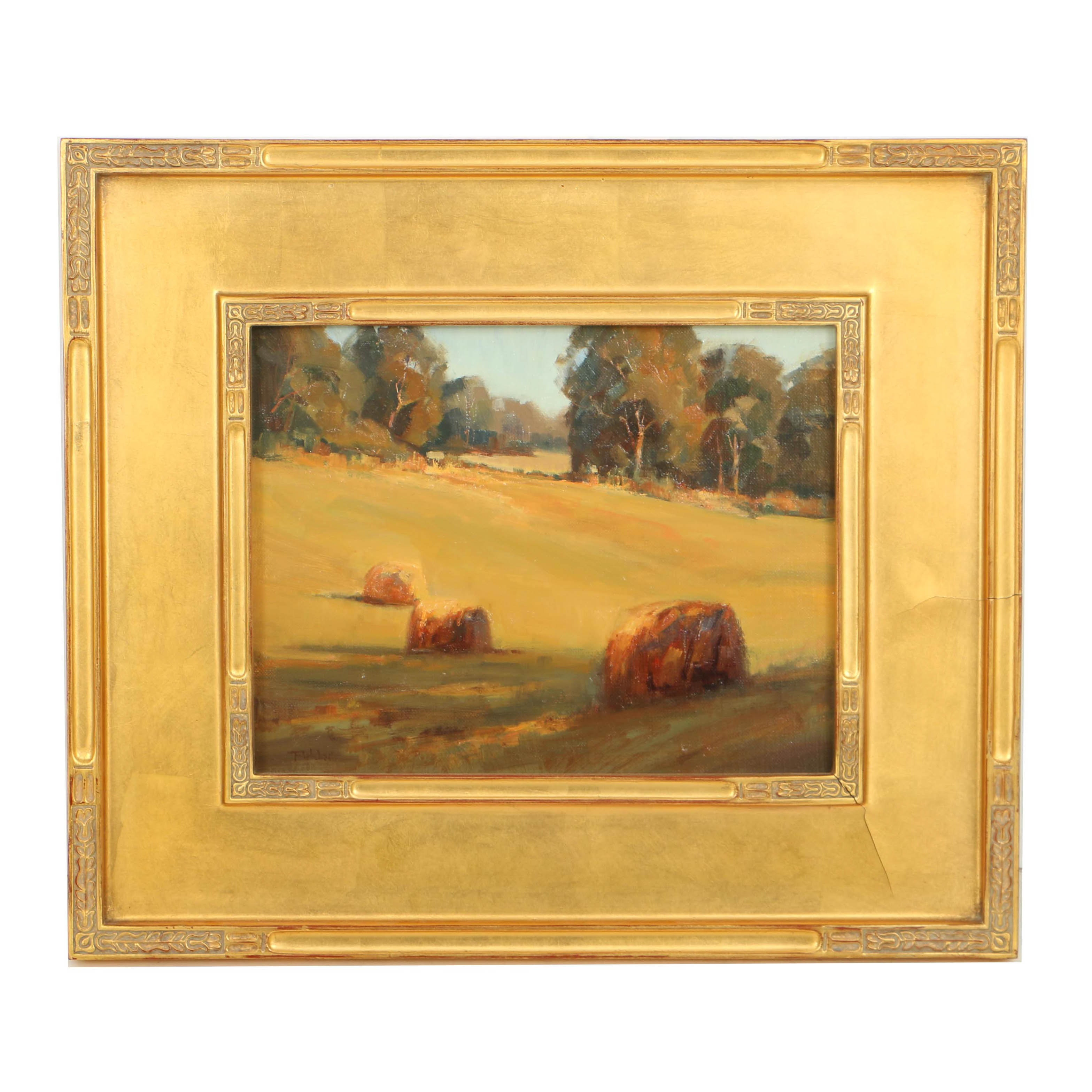 "Bill Fletcher Oil Painting on Canvas ""Kathy's Field"""