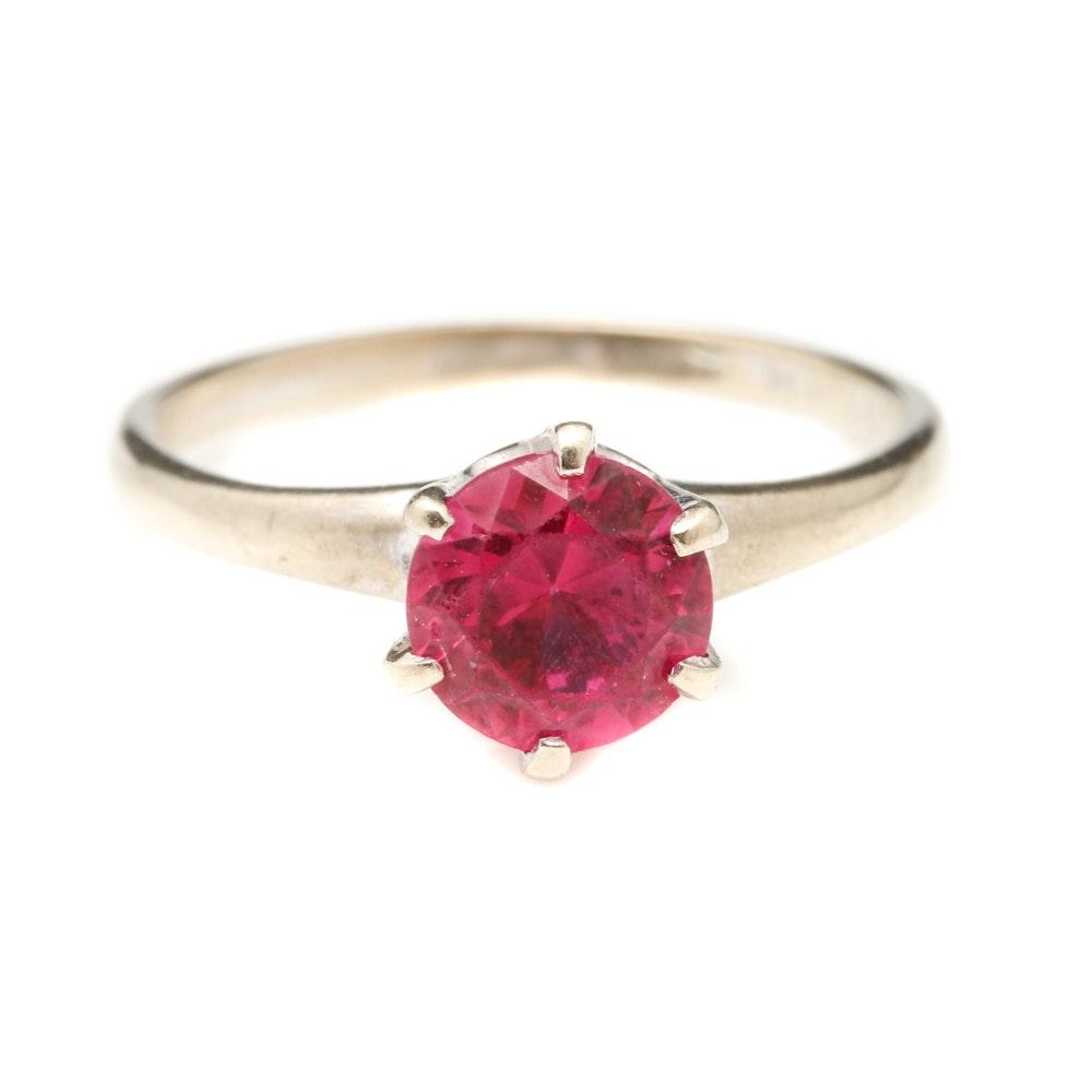 10K White Gold Ruby Ring
