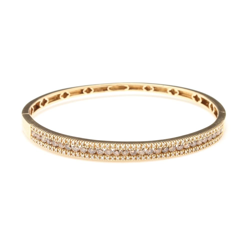 Effy 14K Yellow Gold 1.95 CTW Diamond Bangle Bracelet