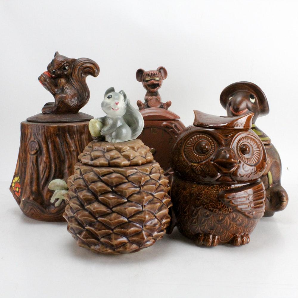 Animal Themed Vintage Cookie Jars Including McCoy