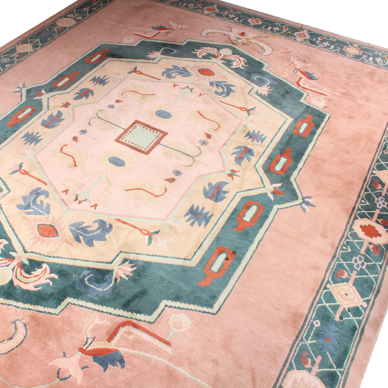 Hand-Knotted Tibetan-Nepalese Room Size Area Rug