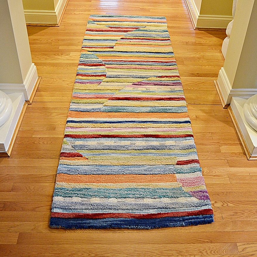 Persian Hand Woven Bakhtiari Style Wool Area Rug Ebth: Hand Tufted Indian Wool Area Rug From Frontgate
