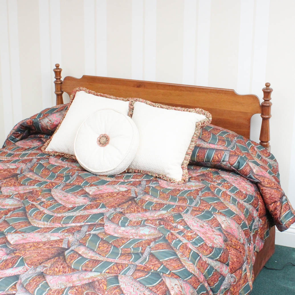 Full Size Solid Cherry Wood Bed