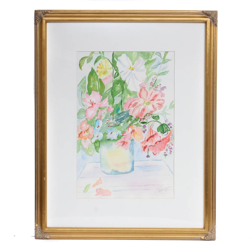 Jessica Stichaney Watercolor Floral Still Life Painting