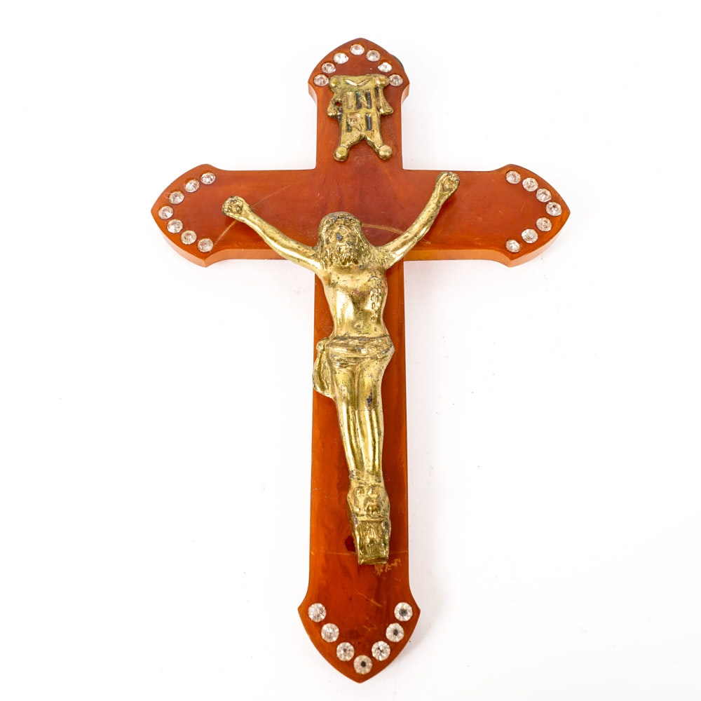 Vintage Early Plastic Crucifix