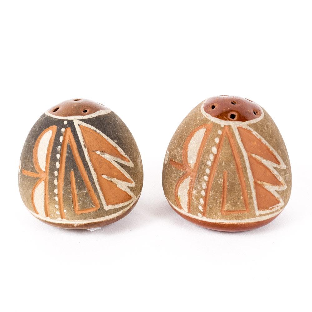 Native American-Style Art Pottery Salt and Pepper Shaker