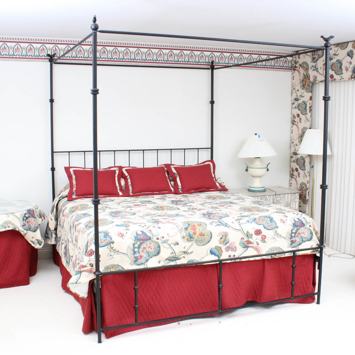 Wrought Metal Canopy Bed Frame