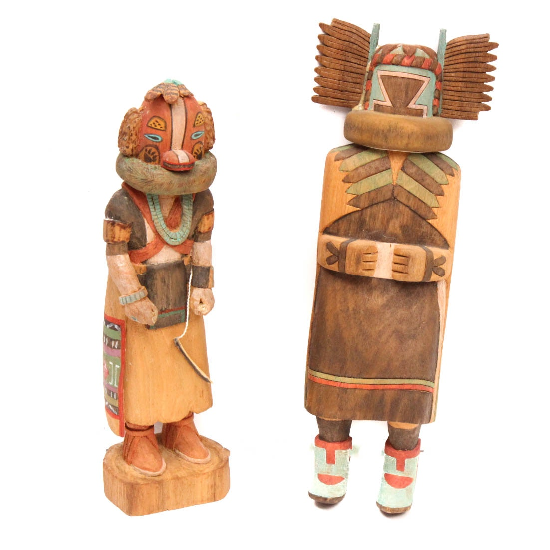 Ray Sumatzkuku Hand Carved Badger Kachina and Crow Mother